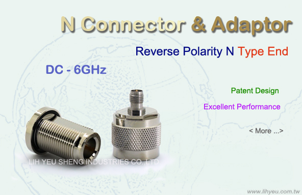 Reverse Polarity N-Type End Connector and Adaptor