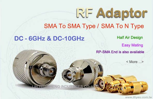 SMA to SMA / N-type Adaptor - Half Air Design