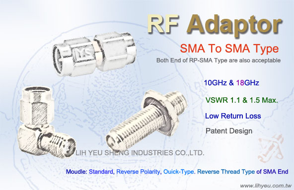 SMA TO SMA Type Adaptor - LIH YEU SHENG