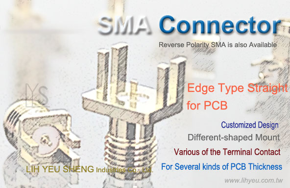 SMA End Luanch PCB Connector - LIH YEU SHENG