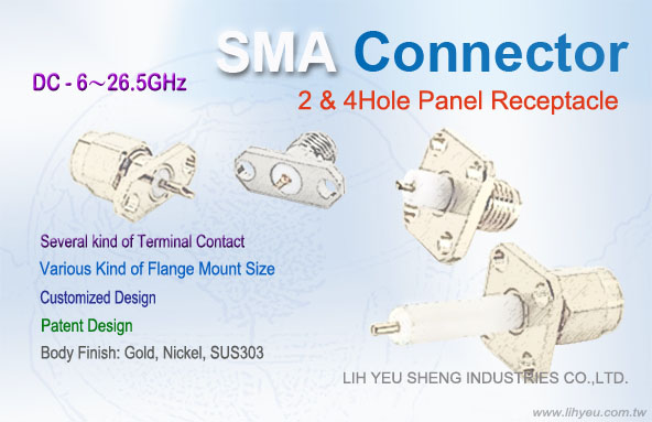 SMA Panel Receptacle Connector-LIH YEU SHENG